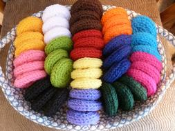 * 10 LARGE Nylon Net Scrubbies - Scrubber * Color Choice * F