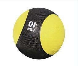 10 Pound lb Strength Training Rubber Medicine Ball Exercise