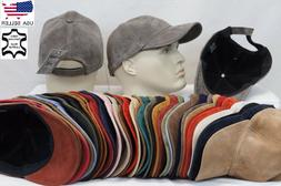 100% REAL GENUINE LAMBSKIN SUEDE LEATHER Baseball Cap Hat Sp