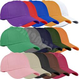 12 PCS wholesale lot Plain Solid Color Adjustable Baseball C