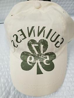 Guinness 1759 Shamrock Baseball Cap White/Green Cotton Adjus