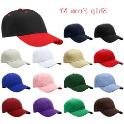 2-pack Classic Plain Baseball Cap Golf Hat Adjustable Size S