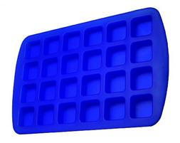 Better Value 24-Cavity Silicone Brownie Squares Baking Mold