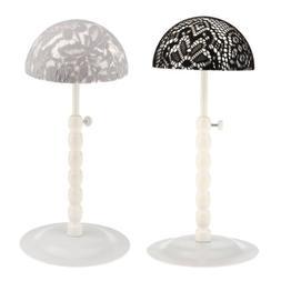 2PCS Adjustable Salon Shop Wig Hat Display Stand Rack Baseba