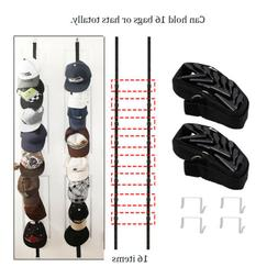 2x Hat Rack Baseball Cap Hat Holder Rack Organizer Storage D