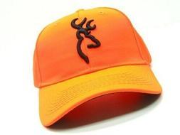 Browning 30840501 Blaze Orange Safety Baseball Cap Hat w/ Ho