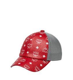 $310 MCM Unisex Classic Mesh Baseball Cap Red White Logo Vis