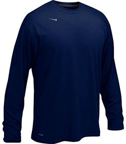 Nike 384408 Legend Dri-Fit Long Sleeve Tee - Navy, Medium