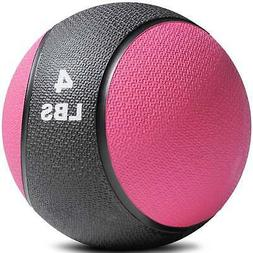 Titan Fitness 4 - 20 lb Weighted Medicine Ball Rubber Muscle