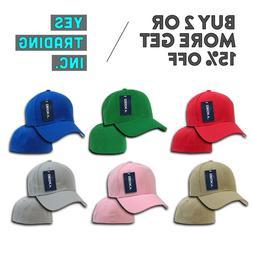 DECKY 402 CLASSIC MENS PLAIN HAT CASUAL BASEBALL CAP PRE CUR