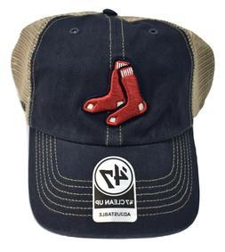 '47 Brand Mens MLB Boston Red Sox '47 Clean Up Baseball Cap