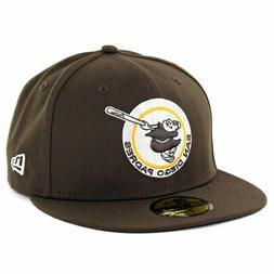 """New Era 59Fifty San Diego Padres """"Brown Gold Friar"""" Fitted H"""