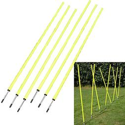 6 Agility Poles Portable Outdoor Training Markers Obstacle F