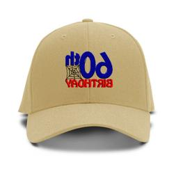 60Th Birthday Embroidery Embroidered Adjustable Hat Baseball