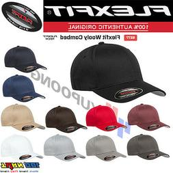 Original FLEXFIT Fitted Baseball Hat #6277 Wooly Combed Twil