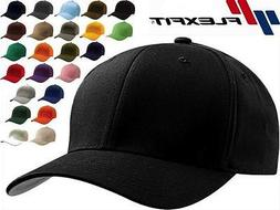 6277 wooly combed twill fitted plain baseball