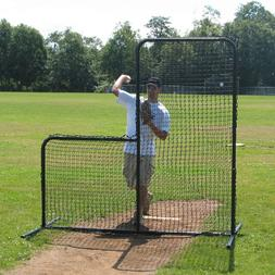 7' x 7' Commercial Baseball Pitcher's L-Screen Frame w/ #36
