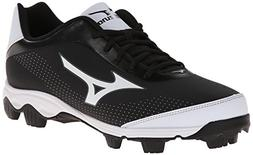 Mizuno Men's 9-Spike Franchise 7 Low Baseball Cleat,Black/Wh