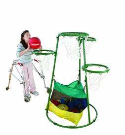 Flaghouse Adjustable Multi-Ring Basketball Stand
