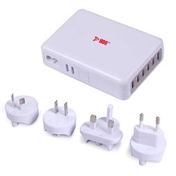 HDE International 6 Port USB Wall Charger AC Travel Adapter