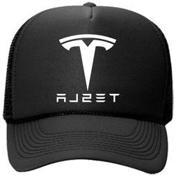 TESLA Motor Hat Trucker Mesh Black Baseball Cap Trendy Model