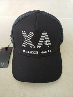 Armani Exchange A|X Men's Black Baseball Cap/Hat