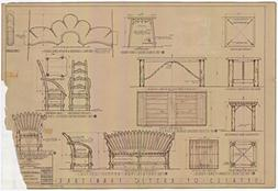 POSTER A3 Texas Furniture, including detail ladder back and
