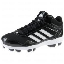 adidas Mens Excelsior Pro TPU Mid Baseball Cleats  US, Black