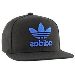 adidas Men's Originals Snapback Flatbrim Cap, Black/Blue, On
