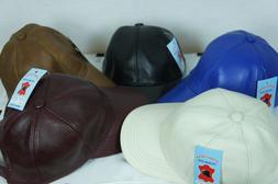 Adjustable 100% REAL GENUINE Lambskin Leather Baseball Cap H
