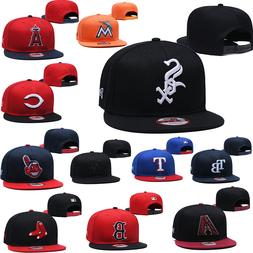 Adjustable Embroidery Team Logo Flat Brim Baseball Cap Snapb