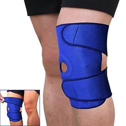 Sports Adjustable Knee Patella Sleeve Wrap Support Brace Cap