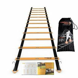 Agility&Speed Training Ladder Kit 12 Adjustable Rungs 19 Ft