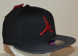Air Jordan Unisex Jumpman Cap / Hat NEW Black/Red Snapback F