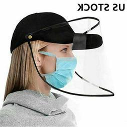 Anti-Saliva Baseball Cap Full Face Cover Protective Shield M