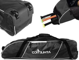 Athletico Rolling Baseball Bag - Wheeled Baseball Bat Bag fo