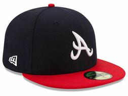 New Era Atlanta Braves HOME 59Fifty Fitted Hat  MLB Cap