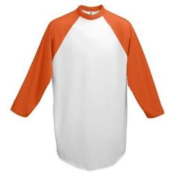 Augusta Sportswear Youth Raglan Sleeve Baseball Jersey, Whit