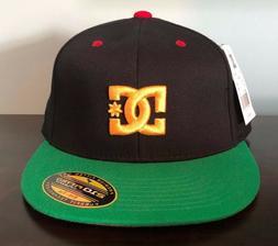 Authentic DC 210 Fitted FlexFit Flat Bill Brim Baseball Hat