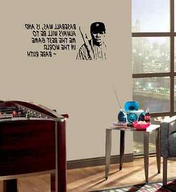Babe Ruth WALL QUOTE Baseball vinyl wall lettering quote wal