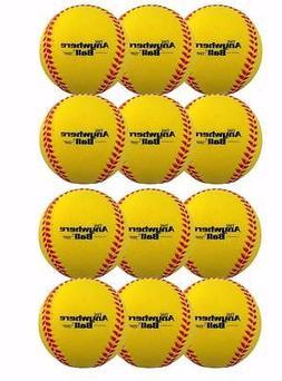 The Anywhere Ball Baseball/Softball Foam Training Ball 12 Pa