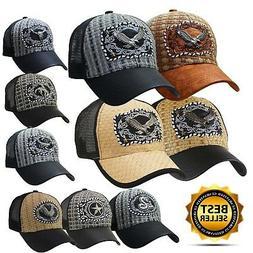 Baseball ANIMAL TRUCKER CAP HAT Premium Emblem Casual Leathe