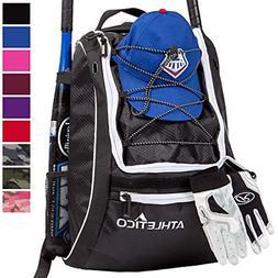Athletico Baseball Bat Bag - Backpack for Baseball, T-Ball &