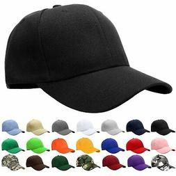 Falari Baseball Cap Adjustable Size Solid Color, 1pc Black,