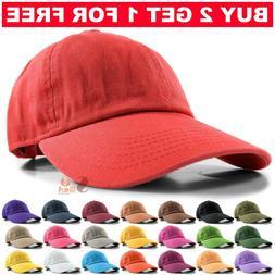 Baseball Cap Ball Dad Hat Adjustable Plain Solid Cotton Polo