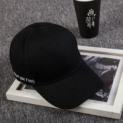 Baseball Cap Embroidery Letter Hats Adjustable Hip Hop Men's