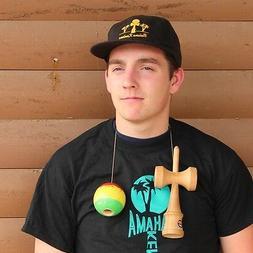 Bahama Kendama Baseball Cap -Flat Brim Adjustable Hat - Blac