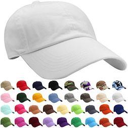 Falari Baseball Cap Hat 100% Cotton Adjustable Size White 18