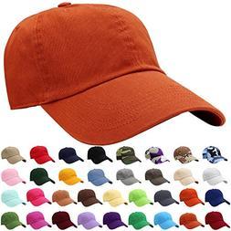 Falari Baseball Cap Hat 100% Cotton Adjustable Size Rust Bro
