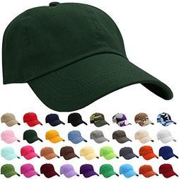 Falari Baseball Cap Hat 100% Cotton Adjustable Size Dark Gre